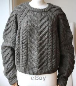 Isabel Marant Vichy Cable Knit Sweater Fr 42 Uk 14