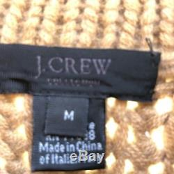 J. CREW COLLECTION Womens ITALIAN CASHMERE Sweater Camel Size Medium
