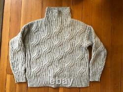 J Crew Collection Cable-knit Cashmere Sweater In Heather Gray Size Xxs