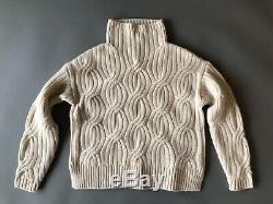 J. Crew Collection Cable-knit Turtleneck In Natural K2949 Size Xs Sold Out