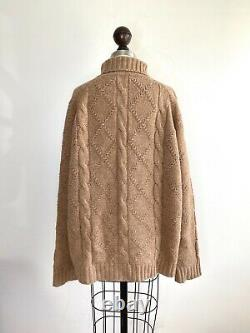 JIL SANDER Turtleneck Sweater Cable knit Chunky Oversized The row Lemaire Toteme