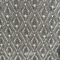 JUNYA WATANABE Size S Black & Gray Distressed Cable Knit Pullover Sweater