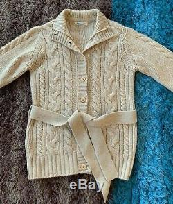 Johnstons of Elgin Chunky Cable Knit Cardigan 100% Cashmere Oatmeal £495