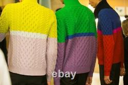 Kenzo Cable-Knit Colorblock Sweater, Size L