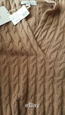 Kinross Womens Sweater 100% Cashmere Cable Knit Size S NWT $575