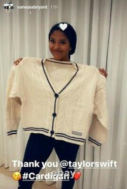 LAST ONE! AUTHENTIC TAYLOR SWIFT patch Folklore Cardigan Sweater XS/S Cable Knit