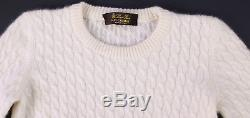 LORO PIANA $1050 Beige Cableknit 100% Baby Cashmere Sweater 1 Year/12 Month