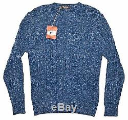 LORO PIANA Baby Cashmere Cable-knit Sweater, Blue 50 IT MED ITALY $2595