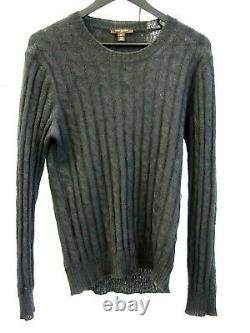 LOUIS VUITTON LV Vintage Mohair Wool Cable Knit Sweater