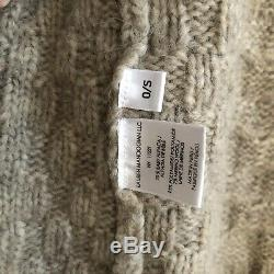 Lauren Manoogian cozy oatmeal patchwork cable knit capote cardigan sweater coat