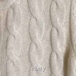 Loro Piana BABY CASHMERE Cable Knit Cardigan Sweater size 38
