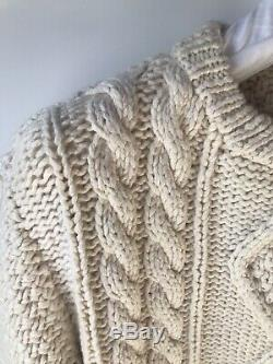 MAISON MARGIELA SS18 Hand Made Cable Knit Sweater M NWT
