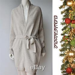 MAX MARA Cardigan Sweater Size M Cable Knit Cashmere Blend in Natural