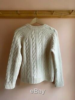 MHL by Margaret Howell soft wool cable knit chunky sweater la garconne $500 S
