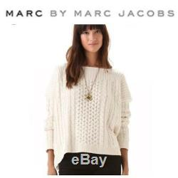 Marc by Marc Jacobs Cable Knit Gray Sweater Sz M/L Oversized New without Tags