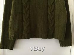Margaret Howell Cashmere & Wool Cable Knit Jumper Size 12