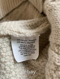 Mens Raised By Wolves Mcqueen Cable Knit Sweater M