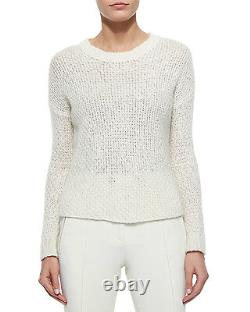 Moncler'Maglione' High/Low Wool Blend Cable Knit Sweater NWOT MSRP $400