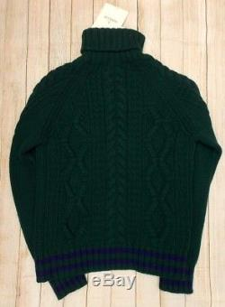 Moncler Roll Neck Cable Knit Mens Jumperbnwt£350+genuinemediummgreenblue