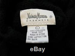 NEIMAN MARCUS Size L 100% Cashmere Hand Knit Heavy Chunky Cable Sweater