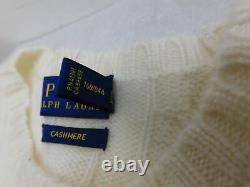 NEW 2019 Polo RALPH LAUREN Cashmere Womens sz Small Sweater Cable Knit White