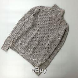 NEW $3700 Loro Piana BABY CASHMERE Men Cable Knit Jumper Sweater Pullover IT48 M