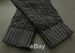 NEW! Denim & Supply Ralph Lauren Cabled Cable Knit Shawl Cardigan Sweater XXL