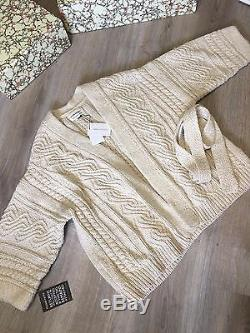 NEW Isabel Marant Floyd Cable-knit cotton cardigan FR 40