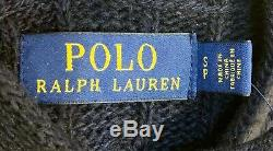 NEW Men's Polo Ralph Lauren Hoodie Cable Knit Sweater Size S (Small) $228