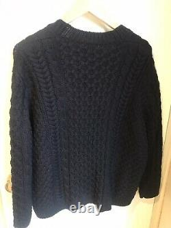 NEW WITH TAGS Miu Miu Navy Cable Knit Cardigan, Size 40