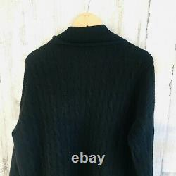 NWOT $398 POLO Ralph Lauren Wool Cashmere Cable Knit Long Duster Cardigan L