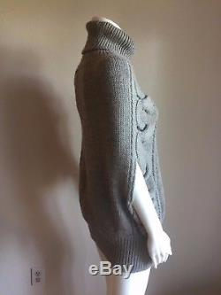 NWOT GUCCI Gray ALPACA WOOL Cable Knit Sweater S $1275 PRISTINE SOLD OUT