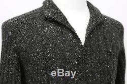 NWT$1495 Brunello Cucinelli Chunky Cashmere-VWool CableKnit Cardigan50/40US A181
