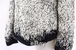 NWT$2145 Brunello Cucinelli Womens Chunky Cable Knit Sequined Crewneck Sweater M