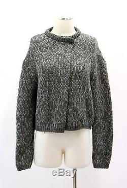 NWT. $2720 Brunello Cucinelli Cashmere-Silk Chunky Cableknit Sequined Cardigan M