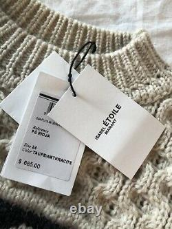 NWT ISABEL MARANT ÉTOILE Rioja Cable-knit Soft Wool Sweater- Current Style