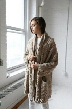 NWT Lauren Manoogian Rare Capote Cable Knit Sweater Coats One Size