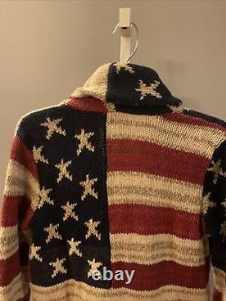 NWT Polo Ralph Lauren American Flag Cardigan Womens Sweater Size S