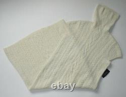 NWT Polo Ralph Lauren Cable-knit Maxi in Cream Turtleneck Sweater Dress XL $398