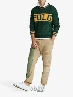 NWT Polo Ralph Lauren ST Andrews Mens Green 1992 Cable Knit Sweater 1967 size XL