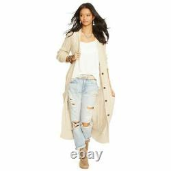 NWT RALPH LAUREN Denim & Supply CARDIGAN CABLE KNIT Duster LONG L Large Stretchy