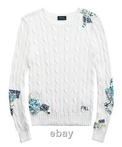 NWT Ralph Lauren Polo Women's Patchwork Cable-Knit Sweater XL
