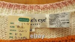 NWT The Eagle's Eye Mother Knit Cardigan Sweater Johnson's Baby Powder Fav Baby