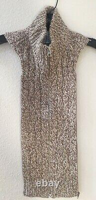 NWT Veronica Beard Coralia Cable Sweater Dickey Beige One Size 00-14 Cashmere
