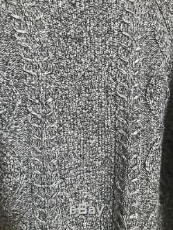 NWT Vince Cable Knit Turtleneck women's Sweater Gray Size XS $395