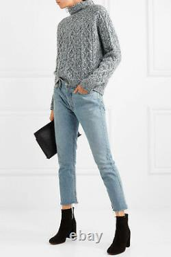 NWT Vince Cable Knit Wool Blend Turtleneck Sweater Grey Size XS, S, M $395