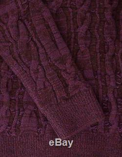 New Lanvin Purple Cable Knit Wool Blend Sweater S Small RRP £715 BNWT