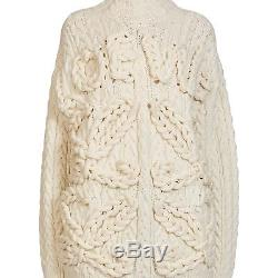 New Loewe Womens Cable Knit Wool Sweater