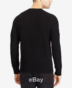 New Polo Ralph Lauren Luxurious Cashmere Cable Knit Sweater Black Large