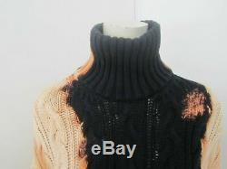 New Season Balenciaga Vetements Giant Oversized Cable Knit Bleached Sweater